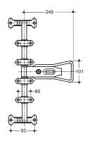 Locker Zinc Plated F-12 (FP-1200XX)